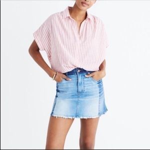 Madewell Contrasting Denim Mini Skirt